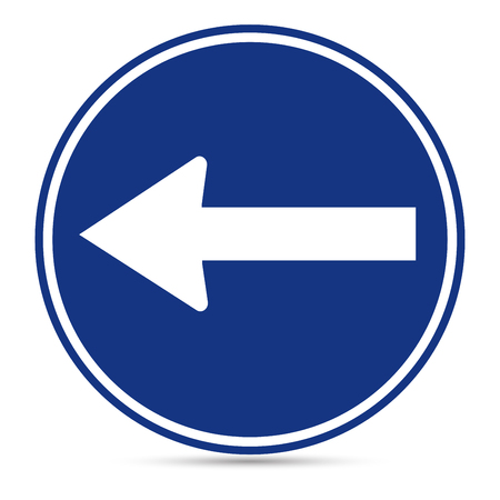 u turn sign: Traffic Sign, Turn Left sign on white background Illustration