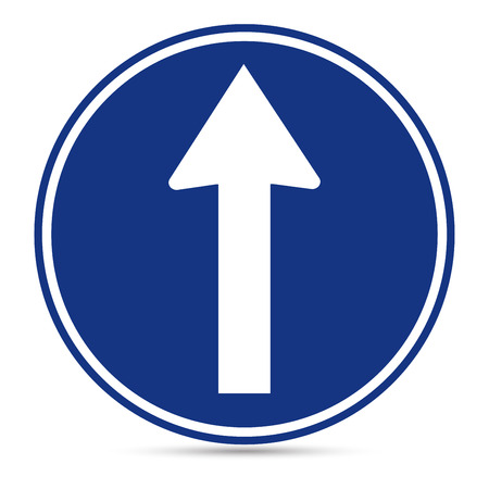 Traffic Sign, Ahead only sign on white background