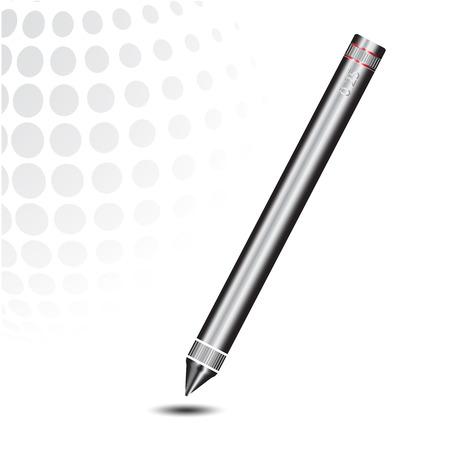 stylus: Stylus pen for touchscreen tablet on white background