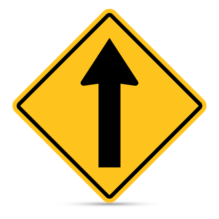 u turn sign: Traffic Sign, Ahead only sign on white background