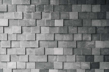 finishing: Gray pattern of decorative stone brick wall surface with cement textured background, Vintage style.