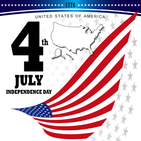 united stated: 4th of July, Independence Day, United Stated of America. Illustration vector.