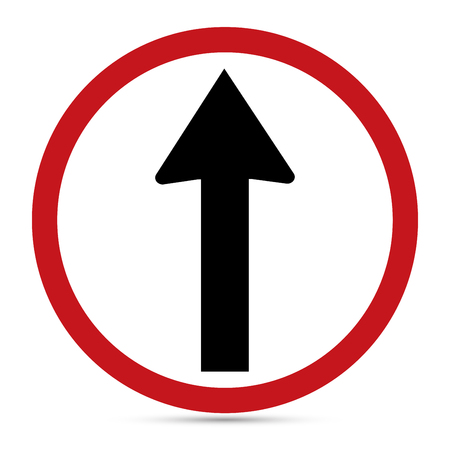 Traffic Sign, Ahead only sign Illustration