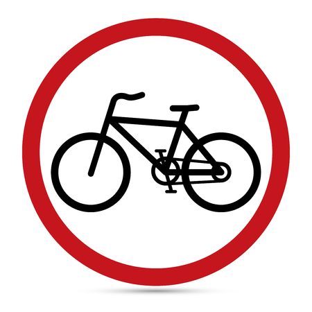 uturn: Traffic Sign, Bicycle Lane sign Illustration