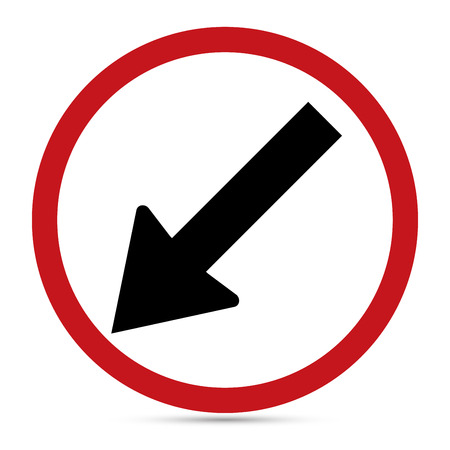 uturn: Traffic Sign, Keep Left sign.