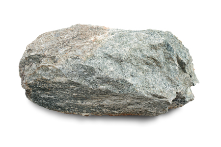 Granite stone, rock isolated on white background, with clipping path.