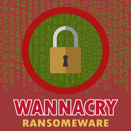 Protect computer, infected malware ransomware wannacry virus.