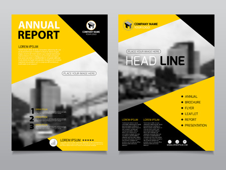 Annual report design, template brochure layout, cover book magazine, flyer, leaflet, advertising for publication, layout a4 size.