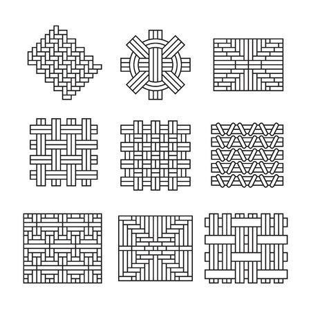 geometric ornaments, weave bamboo lattice style
