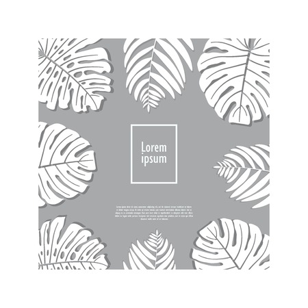 Leave covers design. Tropical leaves set. Illustration