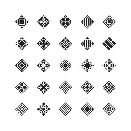 diamond shape , geometric vector icon , ornament