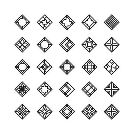 diamond shape , geometric vector icon , ornament