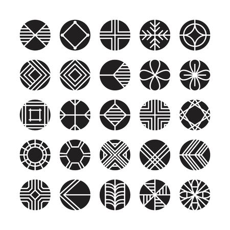 circle geometric vector icon , ornament