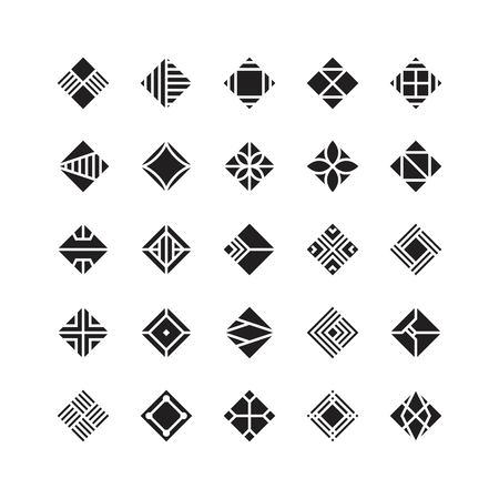 diamond shape , geometric vector icon , ornament Stock Vector - 102136317