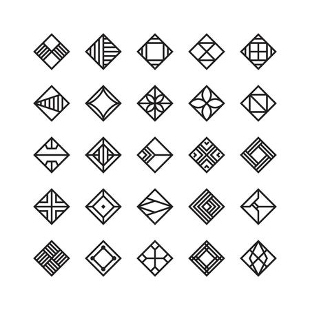 Diamond shape, geometric vector icon , ornament