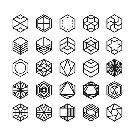 hexagon geometric vector icon , ornament Ilustracja