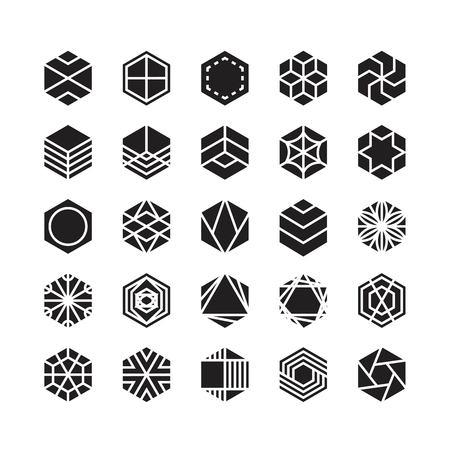 hexagon geometric vector icon , ornament 矢量图像