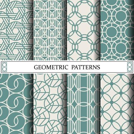 círculo patrón de vectores geométricos, rellenos de patrón, página web, fondo, superficie y texturas
