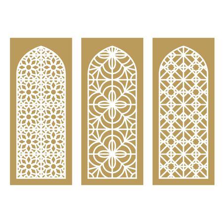 Traditional Arabic Window and Door Pattern, vector set