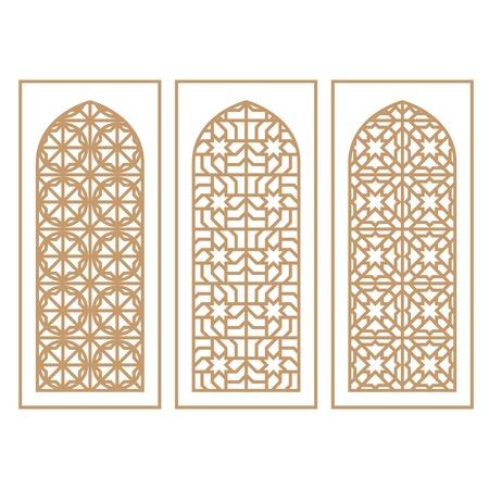 Traditional Arabic Window and Door Pattern, vector set Archivio Fotografico - 102017771