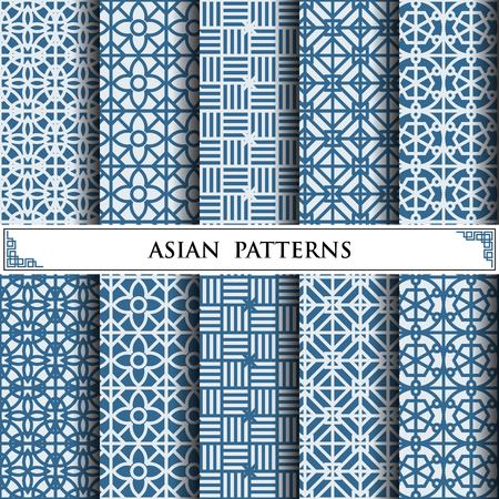 asian vector pattern,pattern fills, web page background,surface textures Illustration