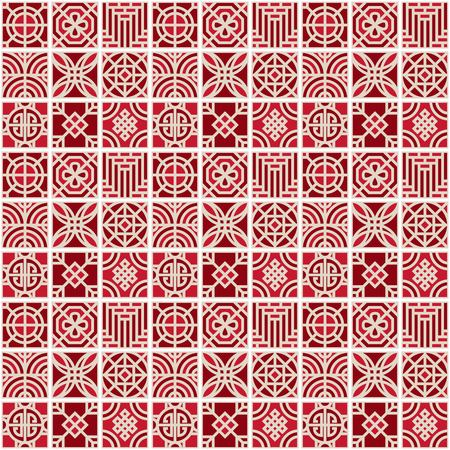 asian vector pattern,pattern fills, web page background,surface textures  イラスト・ベクター素材