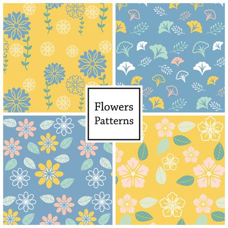 flower vector pattern for web page , background or book cover
