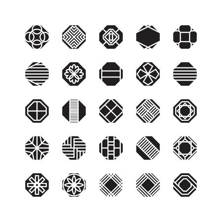 octagon geometric vector icon , ornament