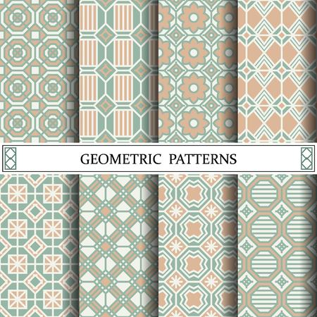 octagon geometric vector pattern for web page background Illustration