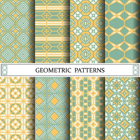 octagon geometric vector pattern for web page background Vettoriali