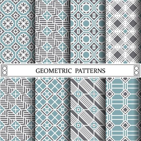 octagon geometric vector pattern for web page background , editable color