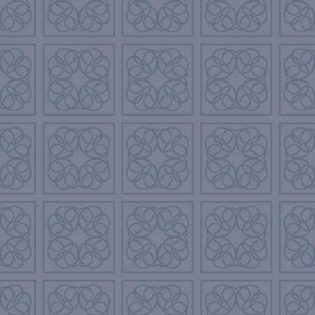 Square patterned restrained blue and dark blue color vector tile seamless pattern Illustration