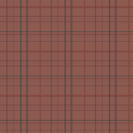 cage tartan fabric line pattern seamless dark brown red wool vector background