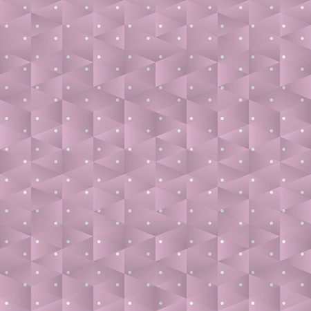 background pink peas from small triangles gradient shadow light illustration patterned corners geometry cute vector pattern Illustration