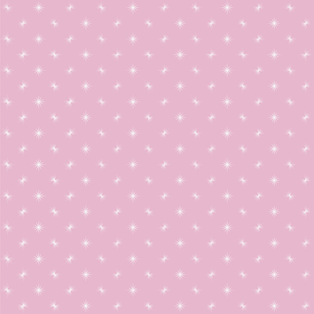 Pink background with white small flashes of glare flashing in a checkered cute baby girlish babies vector seamless pattern. Иллюстрация