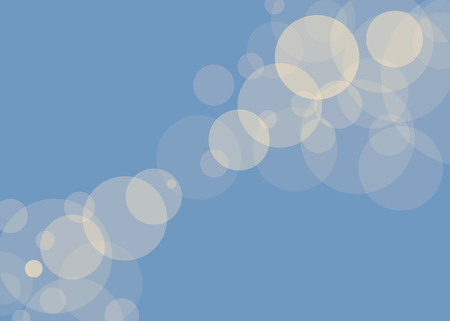 Simple sunny yellow fuzzy translucent glare against a blue sky background of a vector illustration vector illustration.