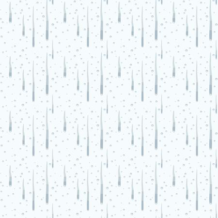 blu semplici gocce lunghe e rotonde che scorre sopra la luce trasparente vettore seamless pattern di sfondo Vettoriali