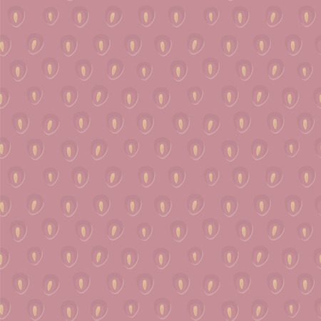 Vector pink sweet strawberry with yellow seeds seamless pattern.