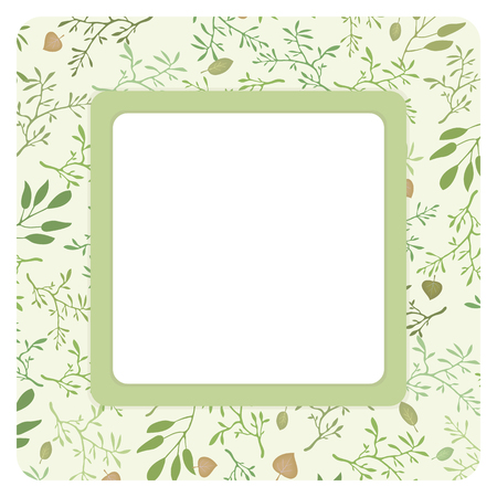 Square wreath greeting card