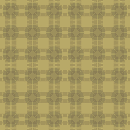 Retro vintage gold background with squares and rhombuses ornament parquet vector seamless pattern.