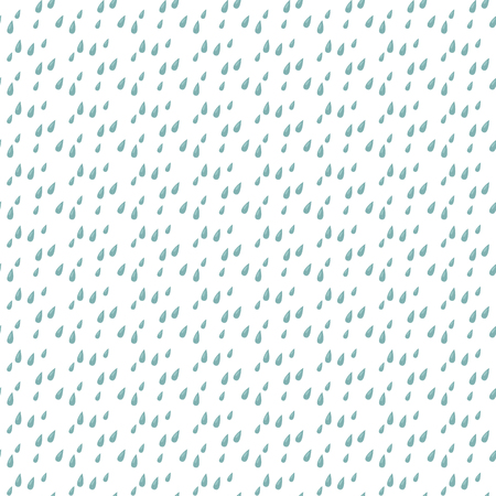 Blue rain drops painted seamless vector pattern background Illustration