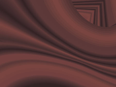 Red brown with shadows wavy vector gradient flowing curved fabric striped background abstraction.