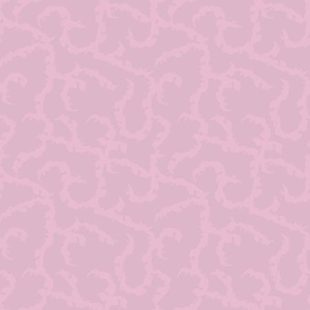 Vector seamless pattern with pale lilac careless curls on a sweet pink background.