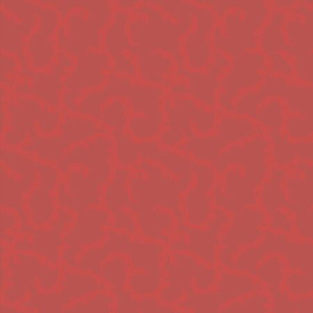 Seamless vector pattern with bright scarlet veins curls on a saturated burgundy background.