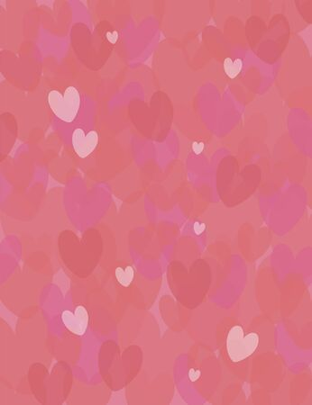 Vertical pink and red bright nice vector background with red love hearts of different shades. Imagens - 139129023