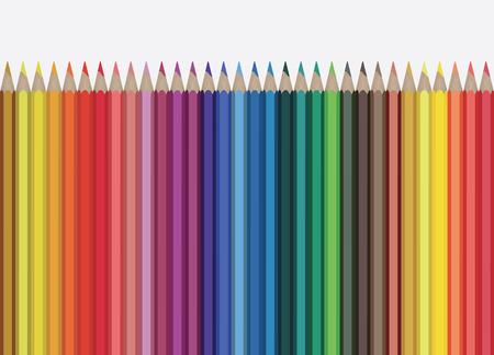 Colour pencils illustration isolated on white background