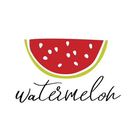 Watermelon vector illustration. Ilustração