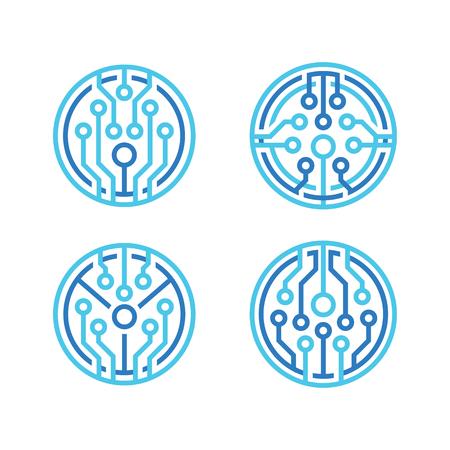 technology icon, vector illustration