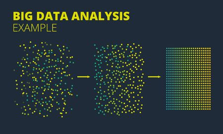 Vector Big data Machine Learning Algorithms. Analysis of Information Minimalistic Infographics Design. Analytics for Smart Business Plan.