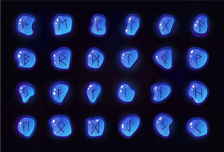 Rune set of letters, runes alphabet.